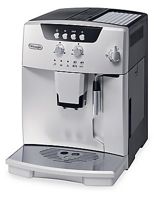 Image of 15-BAR fully automatic espresso and cappuccino machine to create barista style beverages at home. The streamlined compact design with all the features of a full-size automatic machine automatically brews to the perfect temperature, richness and density ev