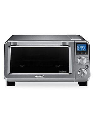 Image of With the DeLonghi Livenza countertop convection oven, you can roast, broil, and bake with ease while eliminating the excess heat of using your full-size oven. An innovative heating system maintains consistent heat with insulated construction and a double
