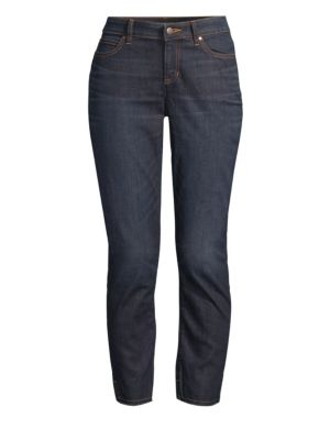 Eileen Fisher Slim Fit Ankle Raw Edge Slit Jeans
