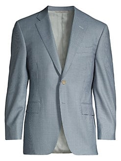 d88d99a1470 Classic-Fit Mini Houndstooth Suit Jacket BLUE. QUICK VIEW. Product image