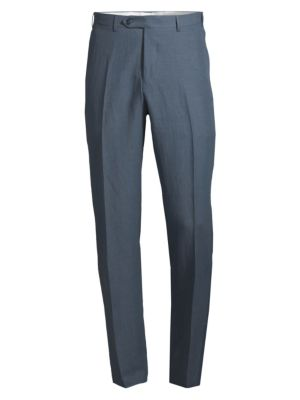 Canali Modern Fit Worsted Wool Trousers