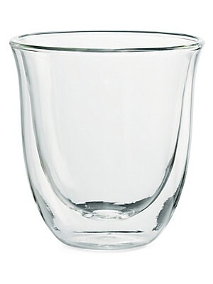 Image of Elegant cappuccino glasses handmade from borosilicate glass. Double wall construction keeps drinks hot or cold while preventing condensation and excess heat from reaching hands. Perfect to use with any DeLonghi specialty coffee maker. Set of six Borosilic