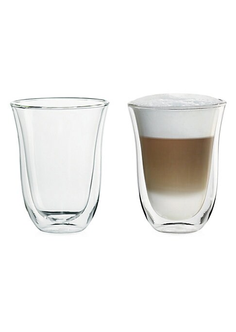 "Image of .The thermal effect of the double wall helps keep drinks the perfect temp. .2-Pack. .7.5 ounce capacity. .Double-wall thermo. .Condensation free. .Dishwasher safe. .13""H X 4.3""L X 4.3""W. .Borosilicate glass. .Imported. ."