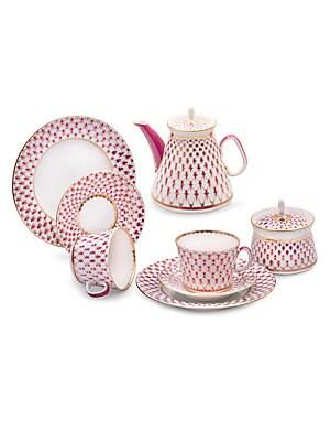 Net Blues Collection 20 Piece Porcelain Tea Set by Imperial Porcelain