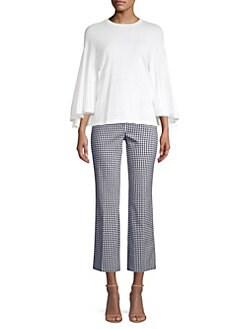 4f67ca482fb07f Michael Kors Collection. Drape Sleeve Cotton Shirt