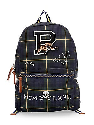 c6965ee4a46c Polo Ralph Lauren - Embroidered Patch Check & Plaid Backpack