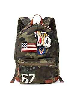 QUICK VIEW. Polo Ralph Lauren. Patchwork Camouflage Canvas Backpack db58d30dab9d2