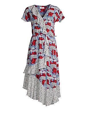ea06ed0e Parker - Reina Mixed Print Wrap-Front Midi Dress - saks.com