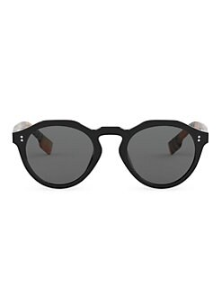 2d41a51d304 Product image. QUICK VIEW. Burberry. 48MM Vintage Check Round Sunglasses