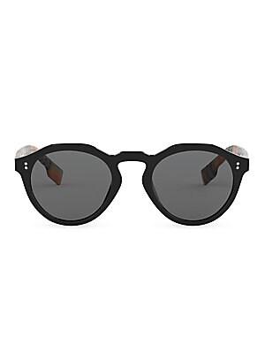 06b433ed32a8a Burberry - 48MM Vintage Check Round Sunglasses