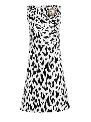 Calvin Klein 205w39nyc Dresses Graphic Leopard Print Douchesse Dress