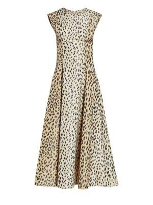 Calvin Klein 205w39nyc Dresses Sleeveless Leopard Print Midi Dress