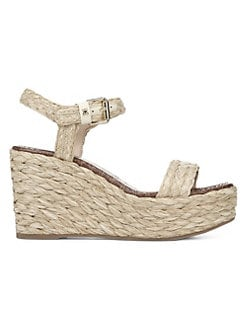 cc7ca877dc0 Sam Edelman. Deena Raffia Wedge Sandals