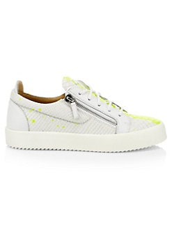 afc048de1113c Product image. QUICK VIEW. Giuseppe Zanotti. Low-Top Splashed Paint Leather  Sneakers