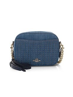 QUICK VIEW. COACH. Studded Denim Camera Bag ad3da1002d