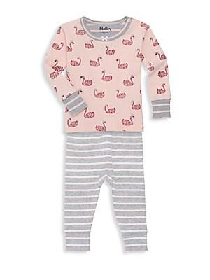 ce1a57f33 Hatley - Baby Girl s Two-Piece Winged Unicorns Cotton Pajama Set ...