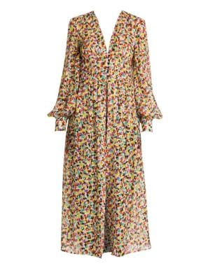 Attico Spotted Print Cher Robe Dress