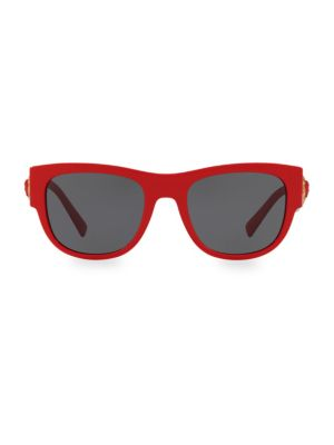 Versace 55mm Wayfarer Wrapped Sunglasses