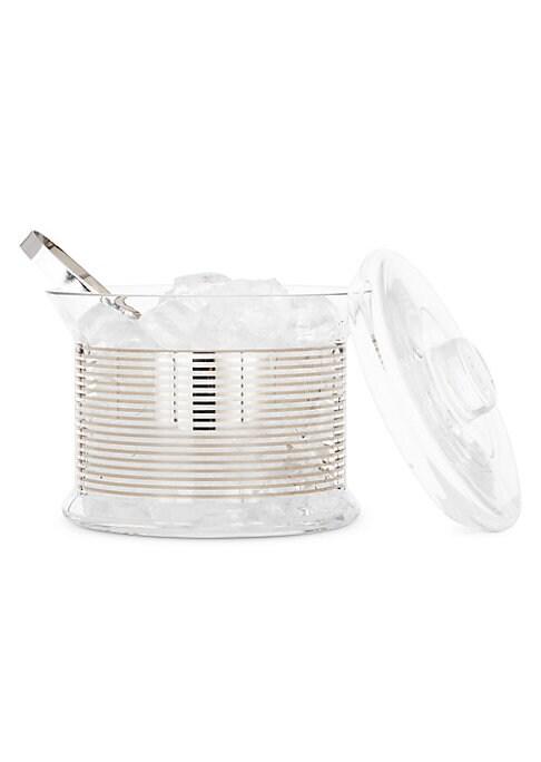 Tank Platinum Ice Bucket  Tongs