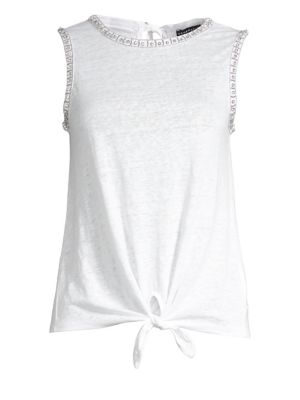 Generation Love Phoebe Crystal Linen Tank Top