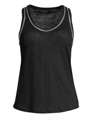 Generation Love Taylor Chain Linen Tank Top