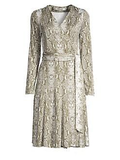 e987cfd5559 QUICK VIEW. Diane von Furstenberg. Elowen Silk Python Print Wrap Dress