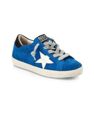 Golden Goose Deluxe Brand Little Kid S Kid S Superstar Suede Sneakers