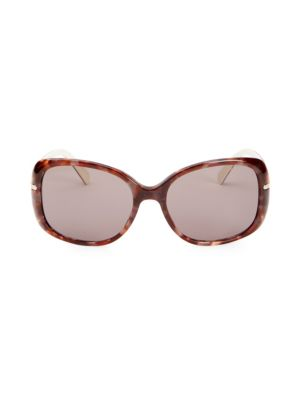 Prada 57mm Rectangle Sunglasses