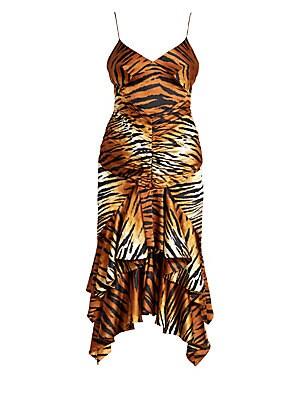 b1b1afe9 Alexandre Vauthier - Tiger Print Stretch Satin Dress
