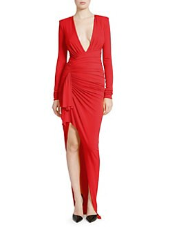 2909c1b116 Alexandre Vauthier. Gathered Jersey Bodycon Gown