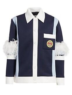 6380e71b8e50 QUICK VIEW. Miu Miu. Techno Jersey Feather Detail Jacket