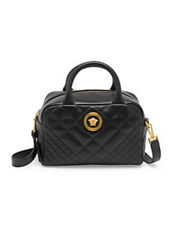 2517e9220 QUICK VIEW. Versace. Quilted Leather Box Tote Bag