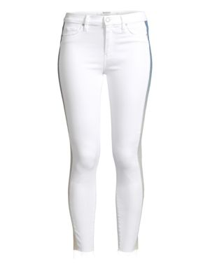 fe68456210d Hudson Jeans Barb High-Rise Racing Stripe Skinny Jeans