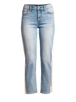 Nico Mid-Rise Racing Stripe Jeans
