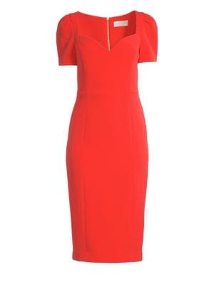 Rebecca Vallance L'Amour Puff Sleeve Sheath Dress