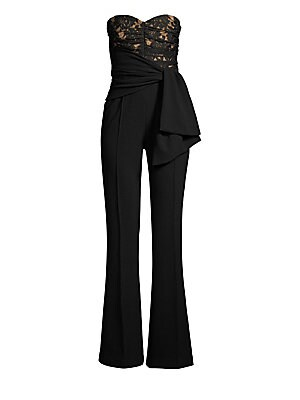 8ccc134317b Rebecca Vallance - Betty Lace   Bonded Crepe Sleeveless Jumpsuit