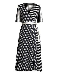 5c1c8c58bd9 Weekend Max Mara. Ada Stripe Jersey Wrap Dress