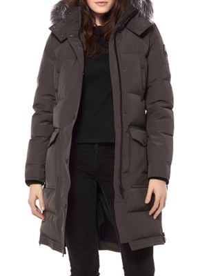 Moose Knuckles Salmon River Fox Fur Trim Quilted Parka