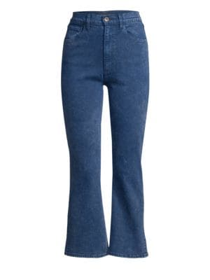 3x1 Empire Slim-Fit High-Rise Crop Flare Jeans