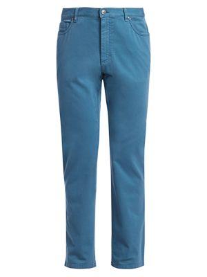 Ermenegildo Zegna Men's Gan Straight Leg Five-pocket Jeans In Bright Blue