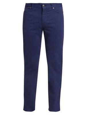 Ermenegildo Zegna Jeans Gan Straight Leg Five-Pocket Jeans