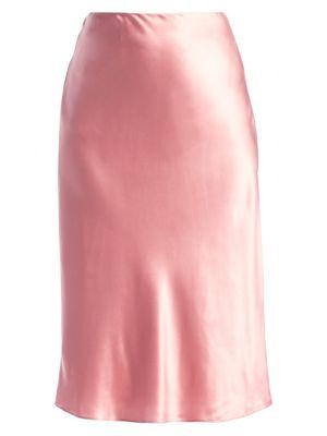 Marta Silk Satin Midi Skirt by Cinq à Sept