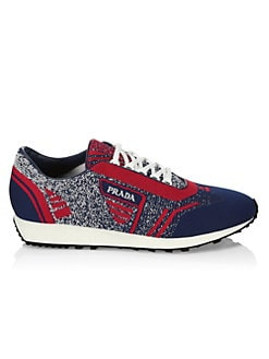 750fc9f8ea77 Prada. Knit Melange Runner Sneakers