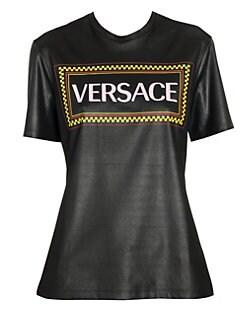 3c81964e4f QUICK VIEW. Versace. Shiny Jersey Rubber Logo Print T-Shirt