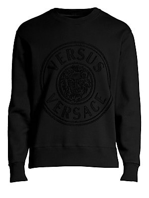 5d6d4607b48f54 Versus Versace - Lion Head Cotton Sweatshirt