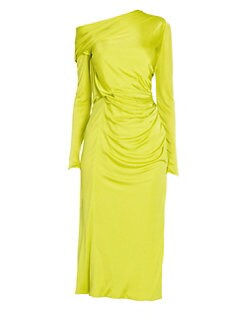 84f067698a5 QUICK VIEW. Versace. Jersey Long Sleeve Off-The-Shoulder Dress