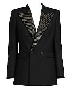 0a11b5ae3fa Crystal Lapel Tuxedo Jacket BLACK. QUICK VIEW. Product image. QUICK VIEW. Saint  Laurent
