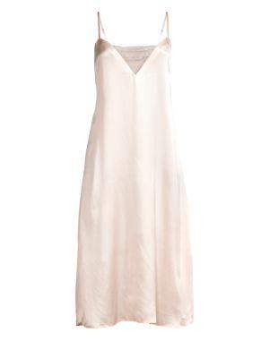 Ginia Lace Silk Nightgown