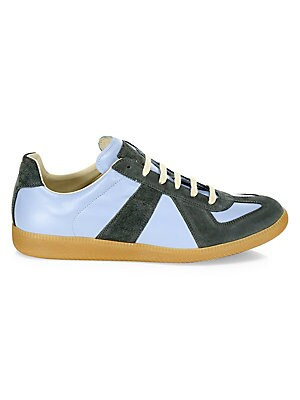 Replica Two Tone Leather Low Top Sneakers by Maison Margiela