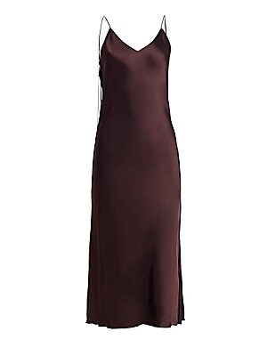 dd711a2315b2 Brown HELMUT LANG Raw Detail Satin Slip Dress - Chocolate - Size 0 0 (Xxs)  Or Smaller on COOLS